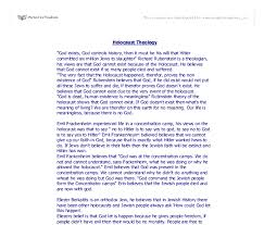 holocaust theology gcse religious studies philosophy ethics  document image preview
