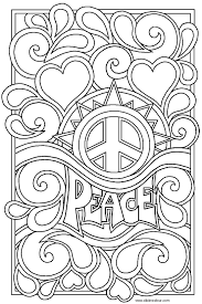 Peace Sign Coloring Pages For Adultscoloringpages