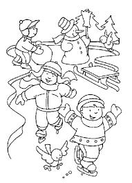 Small Picture Having Fun In The Winter Coloring Pages Winter Coloring pages of