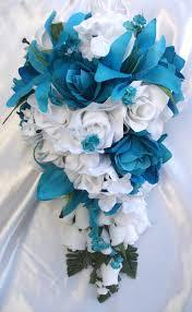 Turquoise And White Wedding Decorations Wedding Flowers Ideas Elegant Silk Wedding Flower Arrangements