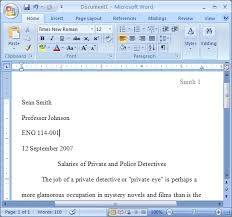 mla formtat mla format for essays and research papers using ms word 2007