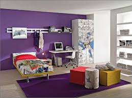 cool bedroom decor. cool room decor ideas with purple bedroom scheme and white pc table for teen l