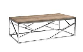 aero chrome wood coffee table modern furniture brickell collection regarding wood chrome coffee tables