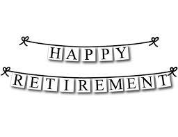retirement banner clipart printable happy retirement banner printable decorations retirement