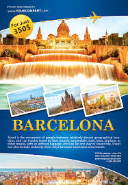 organize the most phenomenal tour our barcelona psd organize the most phenomenal tour our barcelona psd flyer template
