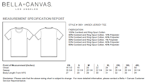 12 Conclusive Bella And Canvas Size Chart