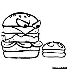 Small Picture Fast Food Online Coloring Pages Page 1
