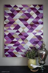diy wall art ideas  on lavender colored wall art with diy modern triangle art