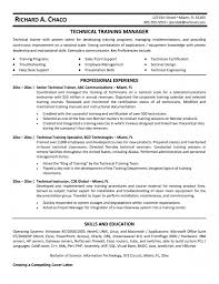 Trainer Profile Sample Free Resume Templates