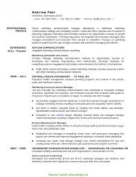 Interesting Marketing And Communications Resume Corporate