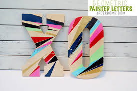 Wooden Letters Design Painted Geometric Wooden Letters Jaderbomb