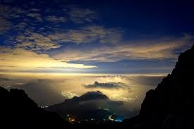 Valley Of Lights In Italy Landscape Nature Mist Valley Evening Stars Sky Clouds City