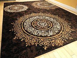 black and brown rug 8 x large ivory gold black area rug