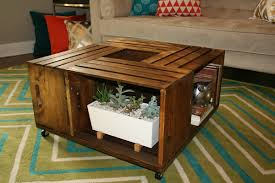 wooden crate coffee table design