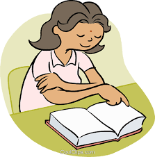 little reading a book royalty free vector clip art ilration