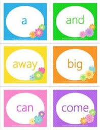 Spring Themed Dolch Sight Word Flashcards Pre Primer A