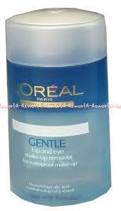 l 39 oreal paris dermo expertise gentle lip and eye makeup remover pembersih lipstik mata 125ml