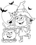 Раскраски хэллоуин онлайн