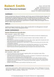 Sample Hr Coordinator Cover Letter Human Resources Coordinator Resume Samples Qwikresume