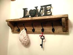 coat hanger shelf rustic farmhouse hook hat rack hand made to order freestanding wooden han