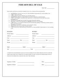 bill of sale 2017 firearm bill of sale form fillable printable pdf forms
