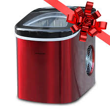 countertop ice maker efic117 ss red stainless steel com