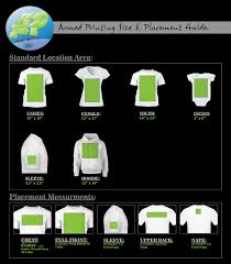 Screen Printing Placement Chart Www Bedowntowndaytona Com