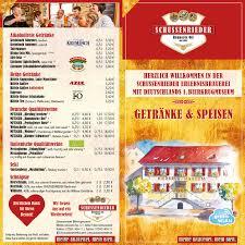 Schussenrieder Brauerei Ott Speisekarte