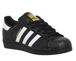 adidas shoes superstar black. womens-adidas-superstar-black-white-foundation-trainers-shoes adidas shoes superstar black a