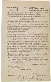 a proclamation on the suspension of habeas corpus the abraham lincoln general orders no 141 25 1862 gilder lehrman