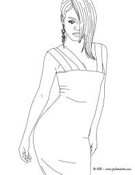 Coloriage Rihanna M Che Cheveux Imprimer Coloriage Pinterest
