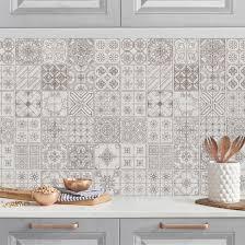 Bilderwelten Rivestimento Cucina Mattonelle in Cemento Grigio 50 x 50 cm  Premium Casa e cucina Decorazioni per interni