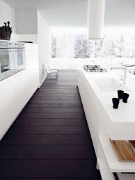 Of White Kitchens With Dark Floors Decorations Single Line Of White Kitchen With Mounted Cabinet