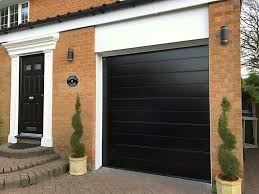 Homecm Black Sectional Garage Door Pennine Doors With Regard To Houses