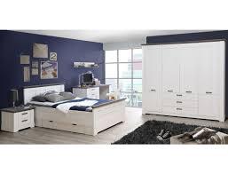 Schlafzimmer Gaston 64 Weiß Grau 6 Teilig Jugendzimmer Schneeeiche