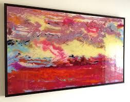 abstract art original painting on plexiglass handmade contemporary art large size framed