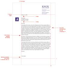 stationery system graphic identities standards knox college monarch letter format margins