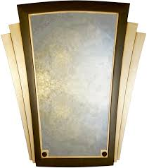 plain art deco winged wall mirror