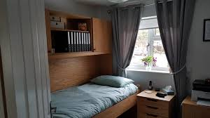 box room furniture. Single StudyBed In Box Room (Bed Mode)Single Bed Mode Plus Top And Under Desk Unit Finished Light Oak Furniture