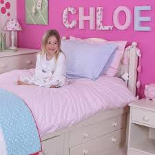 cot bed duvet set in pink gingham childrens bedding