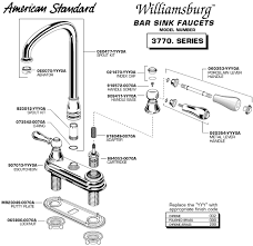 sink faucet parts. Diagram Of Parts For Williamsburg Two Handle Bar Sink Kitchen Faucet 3770 Model Series S
