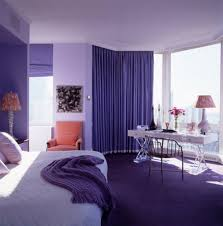 bedroom, Attractive Purple Curtain Color In Apartment Bedroom Ideas Feat  Adorable Beds With White Bedding