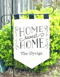 personalized welcome burlap garden flag blank