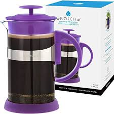 Make espresso with drip coffee maker. Amazon Com Grosche Zurich French Press Coffee Maker Purple 11 8 Fl Oz 3 Demitasse Cup 350 Ml Coffee Press Coffee Maker With Stainless Steel Coffee Filter Mini French Press Kitchen Dining
