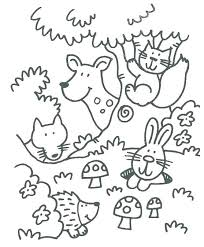 Woodland Animal Coloring Pages Woodland Animals Coloring Pages Cute