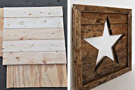 wood star wall decor