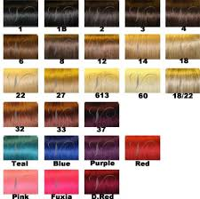 Bella Color Chart Hair Extension Color Chart Hair Color Comparison Chart