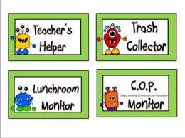 Classroom Monitors Chart Printable Classroom Job Chart Pictures Bedowntowndaytona Com