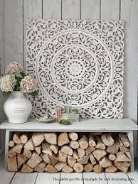 etsy white floral wood wall art panel indian wood by siamsawadee more on teak wall art australia with white floral wood wall art panel indian wood carved wall hanging