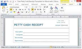 Word Receipts Free Petty Cash Receipt Template For Word With 3 Receipts Per Page